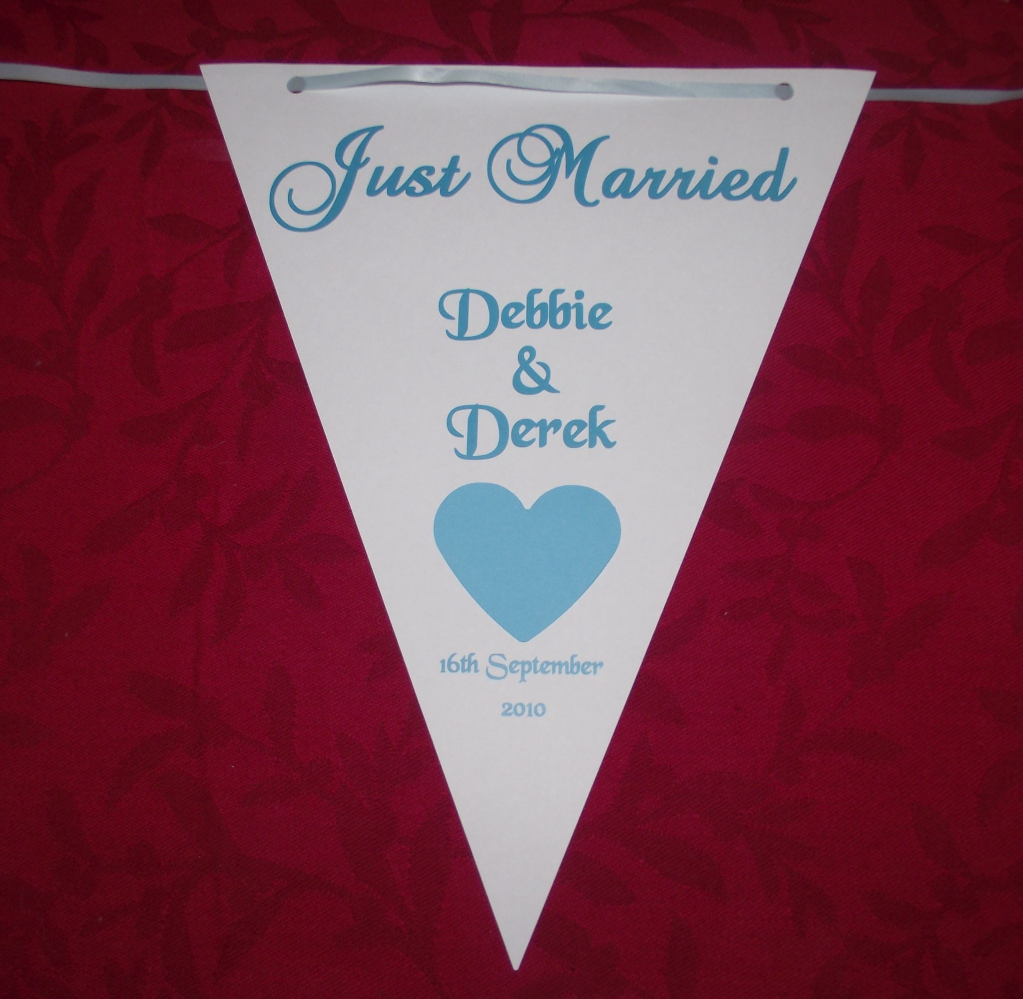 Wedding Bunting Banner Butterfly or Heart Design various colours 3m ...